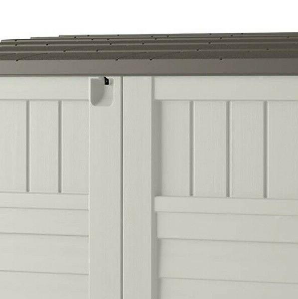 Suncast 4 4 in. 2 ft. 8 in. D Shed Stow Away, Ivory