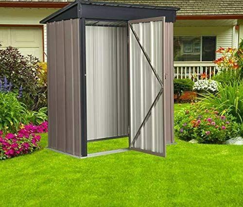 Outdoor FT Tool Storage Metal Storage Sloped Metal Roof