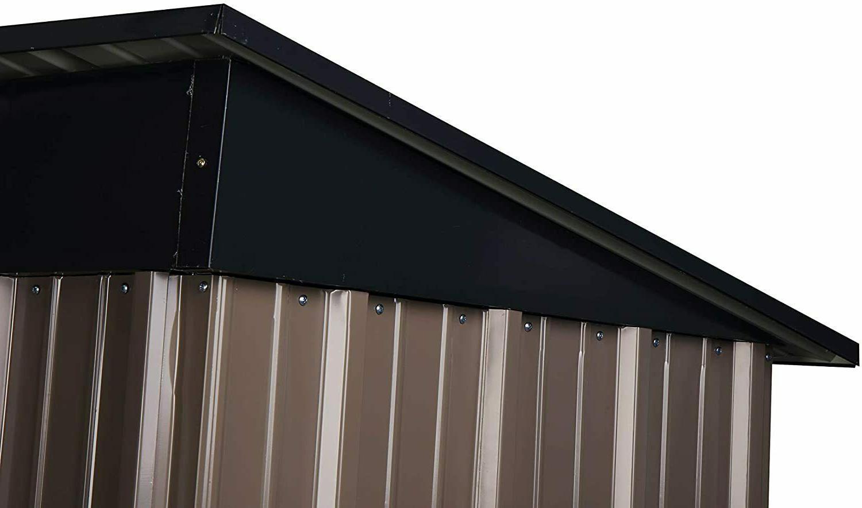 Outdoor 5x3 Tool Storage Metal Garden Storage Sloped Roof