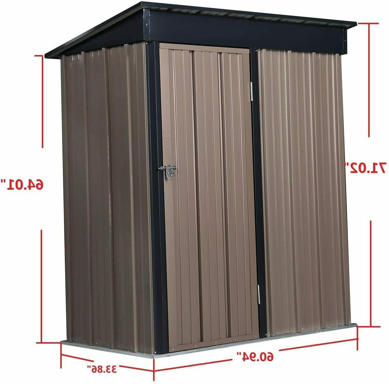 Outdoor Tool Storage Storage Metal Roof