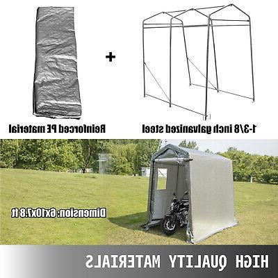 Portable Storage Shed, Portable Garage Shelter, 6x10x7.8 Storage