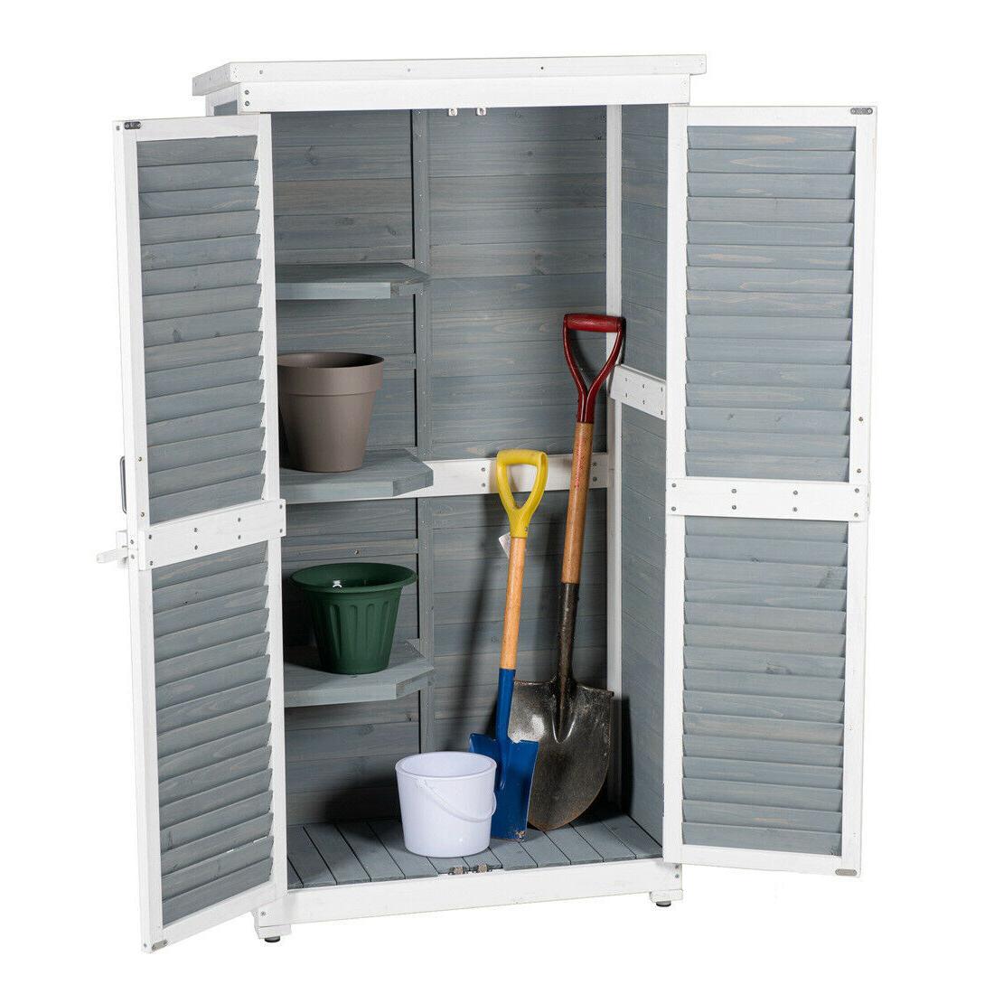 outdoor garden nature wood storage cabinet waterproof