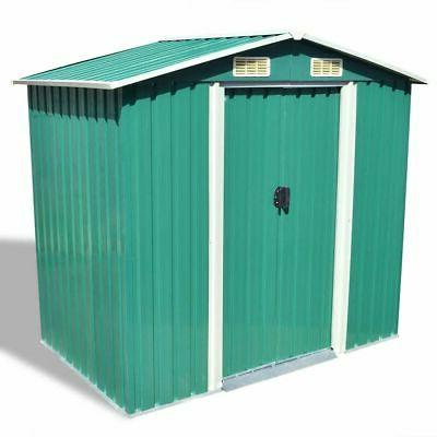 "vidaXL Garden Storage Shed Green 80.3""x52""x73.2"" Garage Tool"