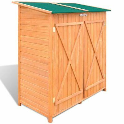 Outdoor Wooden Storage Shed Utility Tools Organizer Backyard