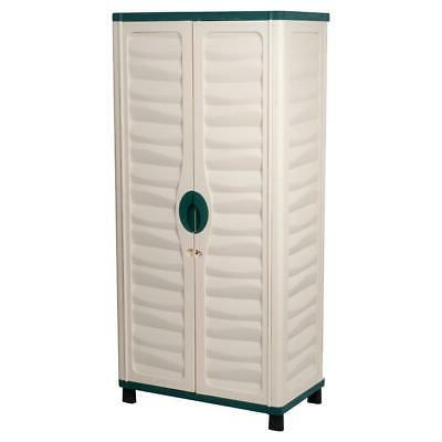 Outdoor Utility Plastic Horizontal Shed Garage