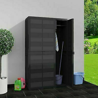 Outdoor Plastic Horizontal Garden Shed Garage