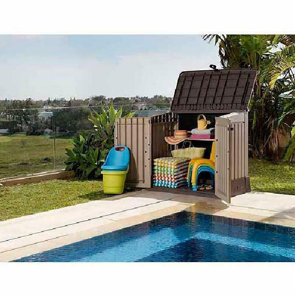 Outdoor Storage Box Cu Resin Waterproof