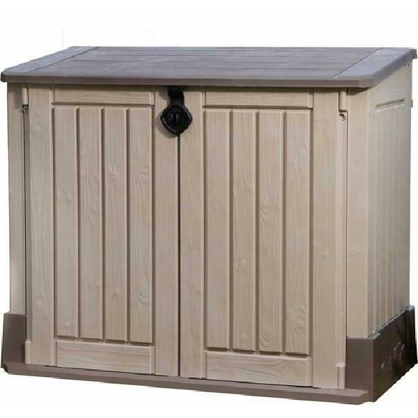 Outdoor Shed Deck Box 30 Cu Resin