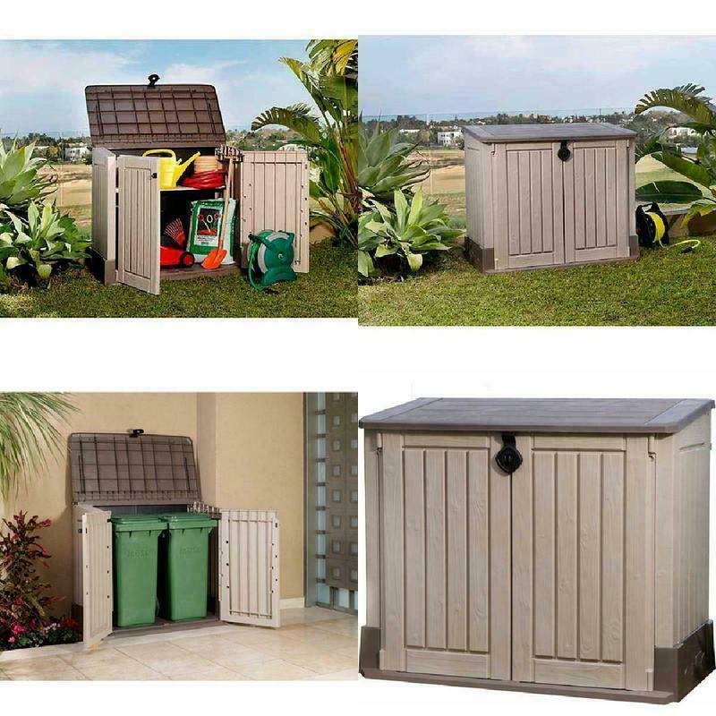 outdoor storage shed deck box 30 cu