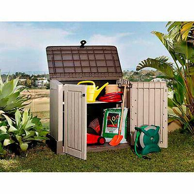 All-Weather Garden Pool Garbage Shed Box Ft