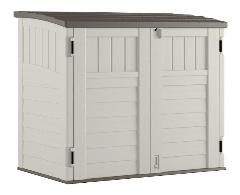 Outdoor Storage Tool Cabinet Plastic Garden Patio Deck Backyard Box