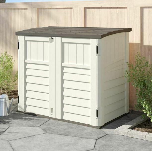 outdoor storage utility shed tool cabinet plastic