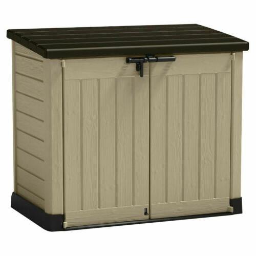 Storage Resin Deck Keter Patio Organizer Cabinet