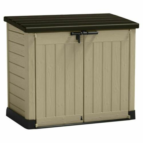 storage resin outdoor box deck shed sheds
