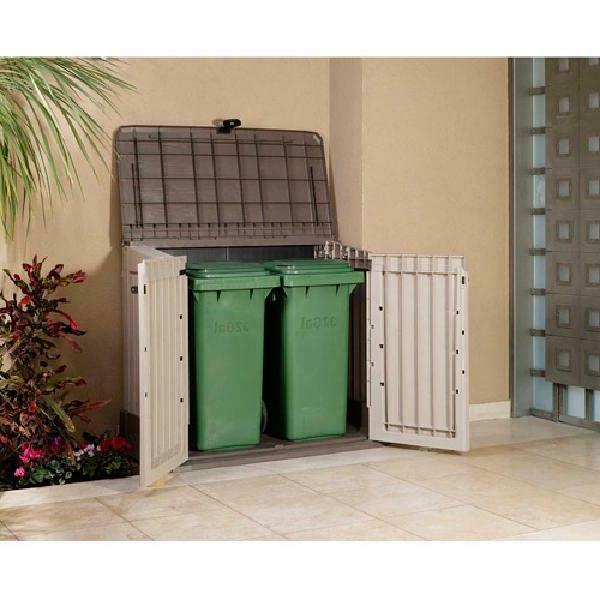 Outdoor Shed Deck Box 30 Cu Resin Waterproof