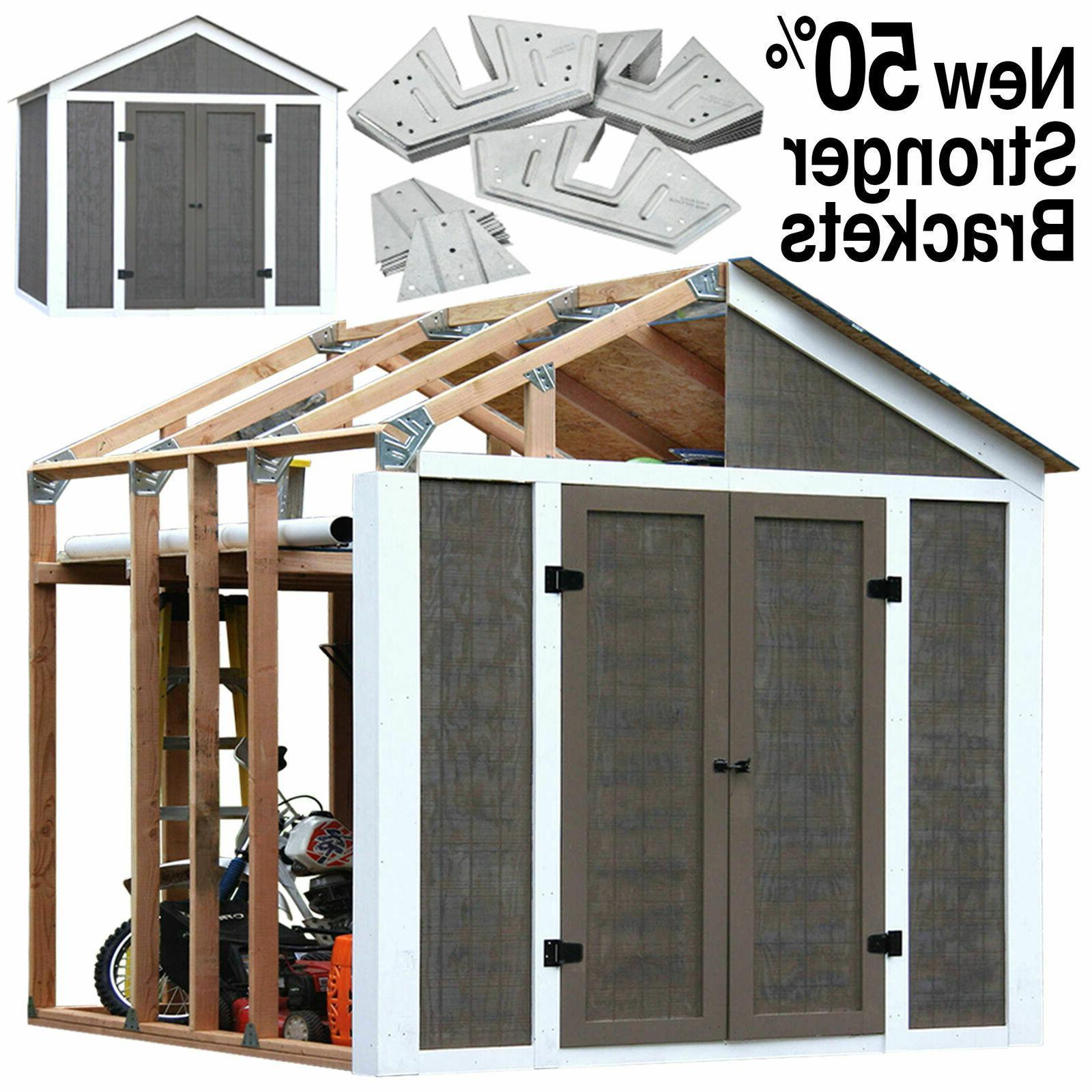 Wood 7' x 8' Outdoor Storage Shed Garden Utility Garage Yard