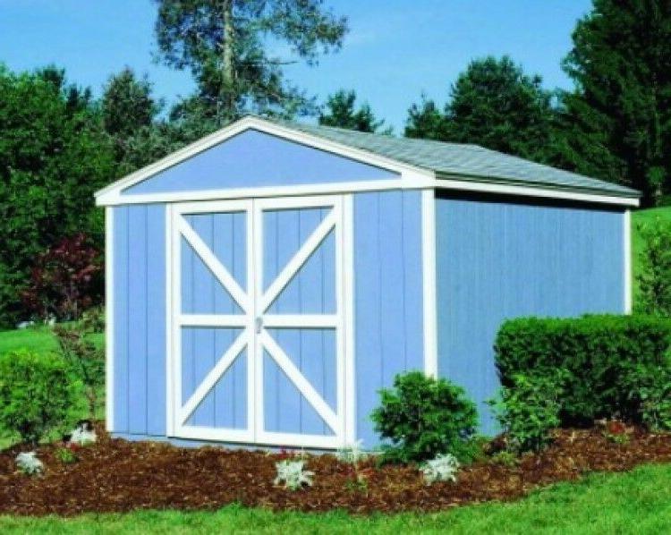 Wood Storage Shed Garage Workshop W/ Floor Kit Building Pref