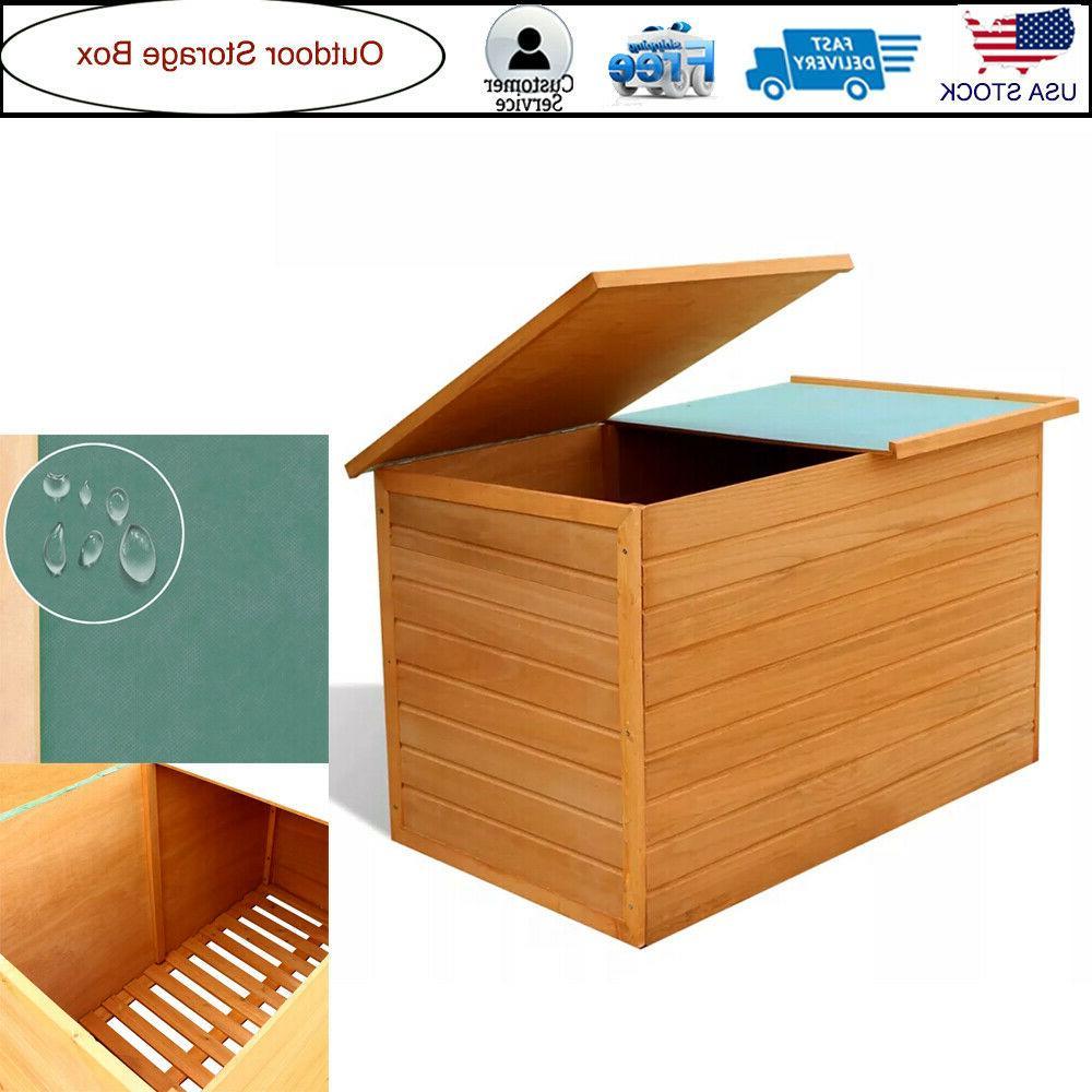 Wood Tool Box Outdoor Garden Shed Storage Garage new