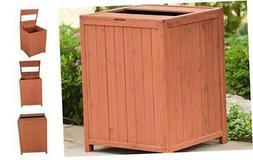 Leisure Season TR6565-V Patio Trash Receptacle Storage-Sheds