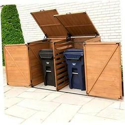 Leisure Season TRSL6741-D Large Horizontal Trash and Recycli