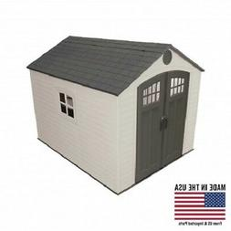 Lifetime 60241 Plastic Storage Shed 8x10 With 5 Shelves Incl