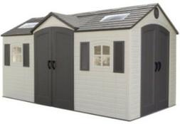Lifetime Garden Shed 60079 8 x 15 ft Dual Entry Plastic Stor