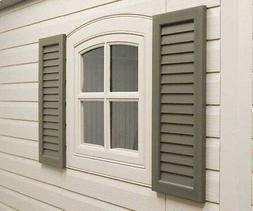 """Lifetime Window Shutters 24"""" - 2 Pack Lifetime Storage Shed"""
