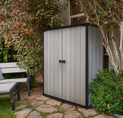 Keter Locking High Store Outdoor Storage Shed w/ Heavy Duty