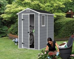 Keter Manor Large 4 x 6 Resin Storage Shed All Weather Plast