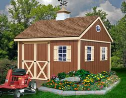 Best Barns Mansfield Wood Shed Kit - 12'x12' Opt.: Floor/No