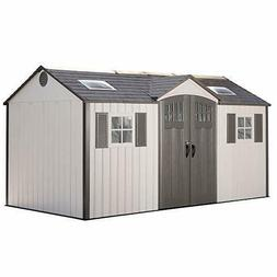 Lifetime 14 ft. 10 in. W x 8 ft. D Metal Storage Shed