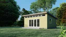 Modern Shed Plans Garden Storage, Workshop, Small House Blue