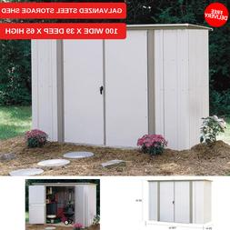 New Galvanized Steel Storage Shed 100 Inches Wide X 39 Deep