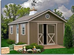 Best Barns North Dakota 12x16 Wood Storage Shed Kit - ALL Pr