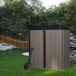 Outdoor 5x3 FT Tool Storage Utility Metal Garden Storage She