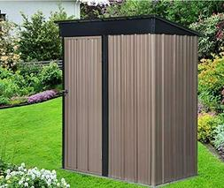 Outdoor 5x3 FT Tool Storage Utility Metal Garden Storage She