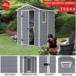 Outdoor Backyard Garden Storage Shed 4' x 6' Ideal For Garde