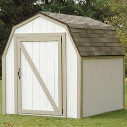 Outdoor Garden Storage Shed Kit Tools Wooden Backyard Unit U