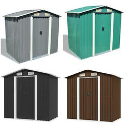 Outdoor Garden Storage Shed Steel Tool House Backyard Lawn S
