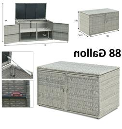Outdoor Storage Box Large Container Rattan Deck Tool Garden
