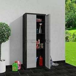 Outdoor Storage Lockable Cabinet Plastic Horizontal Garden S