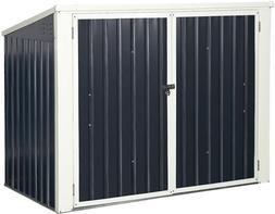 Goplus Outdoor Storage Shed 6' x 3', Multi-Purpose Galvanize
