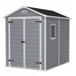 Outdoor Storage Shed Backyard Garden Yard Tools 6 x 8 Ft Res