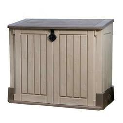 KETER Outdoor Storage Shed Cabinet Garage Tools Hose Trashca