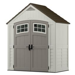 Outdoor Storage Shed Patio Sturdy Double Wall Resin Polycarb