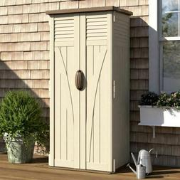 Outdoor Storage Utility Shed Tall Patio Garden Vertical Resi