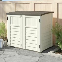 Outdoor Storage Utility Shed Tool Cabinet Plastic Garden Pat