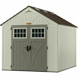 Patio Resin Storage Shed 8x10Ft Large Outdoor Cabin Garden Y