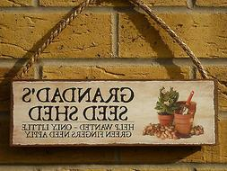 PERSONALISED GARDEN SHED SIGN SEED STORE GARDEN SEEDS PLANTS