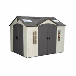 Lifetime 10x8 Plastic Garden Shed 60001 w/ Double Doors